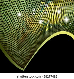 Mosaic background or business card. Vector version available in my gallery.