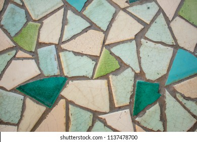 Mosaic from broken old tile