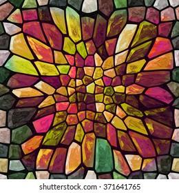 Mosaic Color Texture With Big Gap