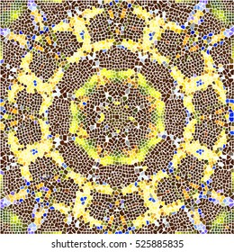Mosaic colorful artistic background for design