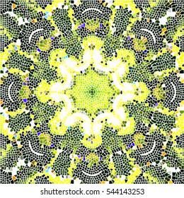 Mosaic colorful pattern for wallpapers, ceramic tiles, design and backgrounds