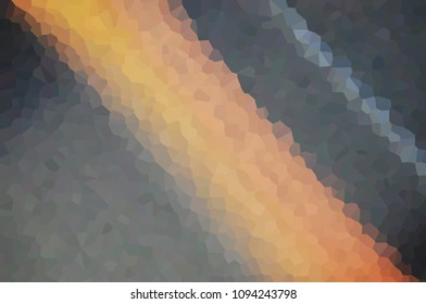 Mosaic, cubism, geometry, figure, puzzle, elements, many, glass, polyhedron, Orange dark gray bright blurred abstract background texture illustration banner banner brochure with place for text