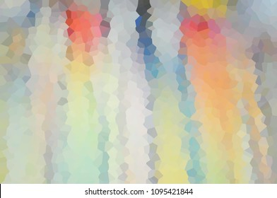 Mosaic, cubism, geometry, figure, puzzle, elements, many, glass, polyhedron, Rainbow multi-colored mottled colorful children's blurry abstract background texture illustration