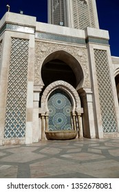 Mosaic exterior decorations of the Hassan II mosque, Casablanca, Morocco, Africa