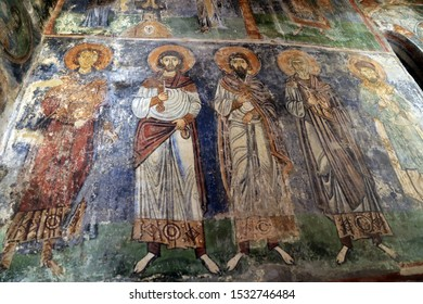 Mosaic and fresco, Monastery of Hosios Loukas, Boeotia, Greece - Shutterstock ID 1532746484