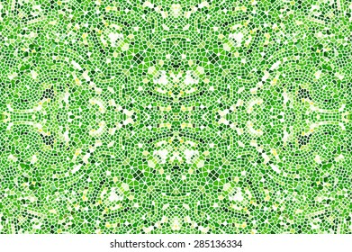 Mosaic green artistic background for design