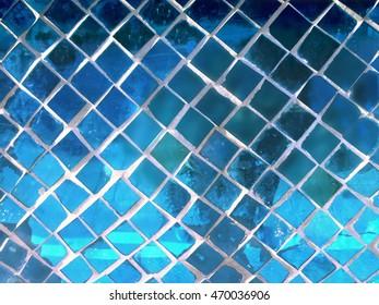 Mosaic mirror wall