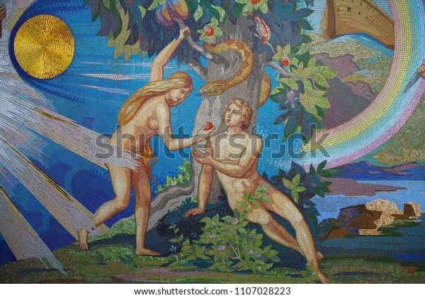 Orthodox church Adam and Eve Removable Wall Murals