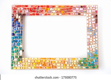 Mosaic photo frame