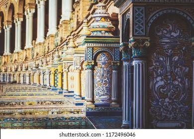 Mosaic at the Plaza de España in Sevilla Spain
