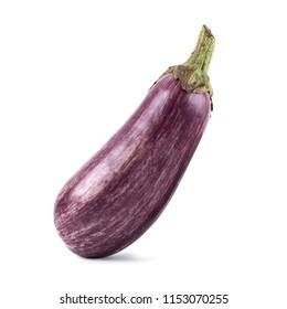 Mosaic purple eggplant isolated on white background