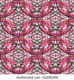Mosaic seamless colorful pattern for wallpapers, design and backgrounds