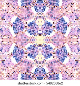 Mosaic square colorful pattern for wallpapers, ceramic tiles, design and backgrounds. Aspect ratio 1:1