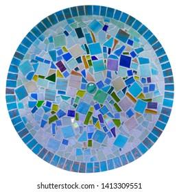 Mosaic texture tile. Moroccan style. Mosaic insert. Stone decoration. Stone pattern. Smalt mosaic.