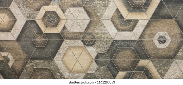 mosaic tile, abstract ornamental pattern