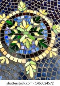 Mosaic tile table top details