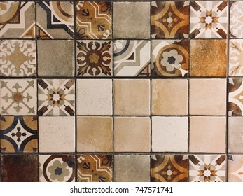 Mosaic tile wall background