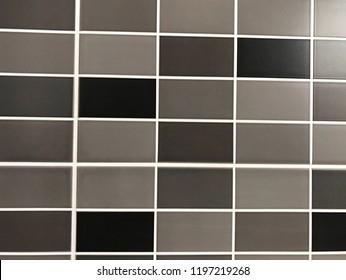mosaic tiles in gray tones