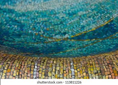 Mosaic Tiles Pattern Yellow Gold Blue Stock Photo Edit Now - Art deco mosaic tile patterns