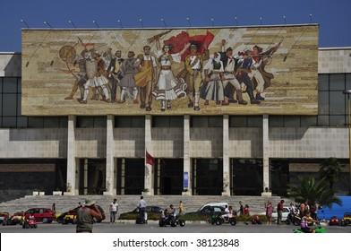 Mosaic in Tirane city centre  Albania