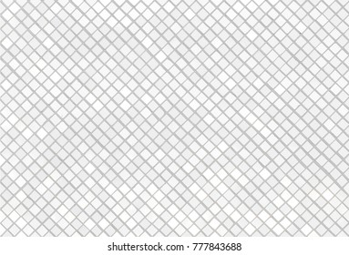 Mosaic white tiles texture wall with light reflection