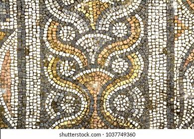 mosaics of Aphrodisias, ruins of Roman Empire  in Aydin, Turkey