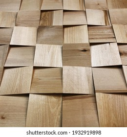Mosaics, wooden mosaics, puzzles of different sizes. Variety of wood species. Wooden panels. Background for design and presentations.