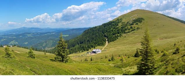 Moschkogel- panorama / Lower Carinthia / Austria