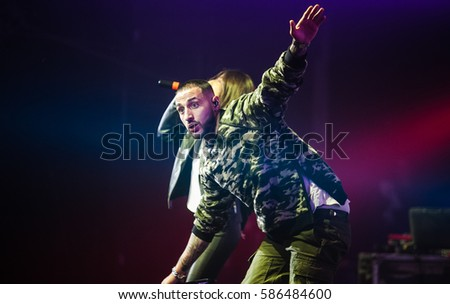 MOSCOW 11 OCTOBER 2015 Big Russian Rap Stock Photo (Edit Now