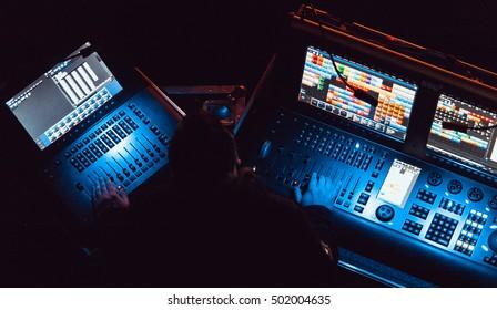 Stage Lighting Technician Images, Stock Photos & Vectors