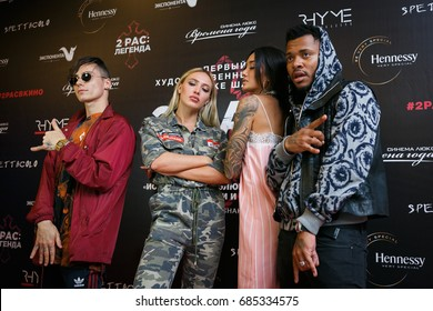 """MOSCOW - 25 JULY,2017: Private party at presentation of the movie """"2Pac - The Legend"""" in Russia"""
