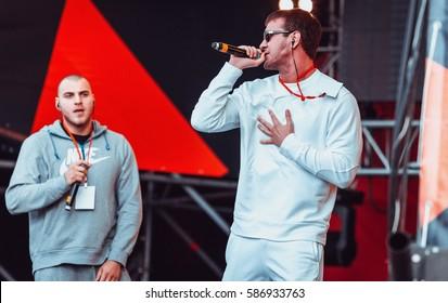 Moscow 6 September2014 Big Russian Hip Hop Rap Music Live Concert At