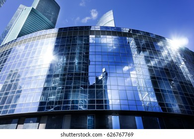 MOSCOW - APRIL 16, 2017: View of Moscow-City skyscrapers. Moscow-City (Moscow International Business Center) is a modern commercial district in central Moscow