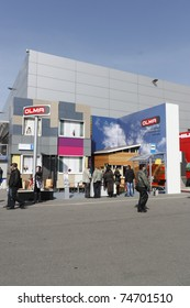 MOSCOW - APRIL 4: Visitors and participants of the international exhibition MosBuild on April 4, 2011 in Moscow.