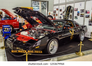 MOSCOW - AUG 2016: Pontiac Firebird 1989 presented at MIAS Moscow International Automobile Salon on August 20, 2016 in Moscow, Russia.