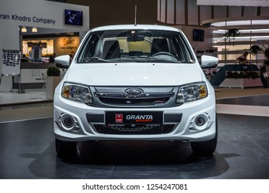 MOSCOW - AUG 2016: VAZ 2190 LADA Granta Sport presented at MIAS Moscow International Automobile Salon on August 20, 2016 in Moscow, Russia.