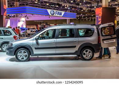 MOSCOW - AUG 2016: VAZ LADA Largus Cross presented at MIAS Moscow International Automobile Salon on August 20, 2016 in Moscow, Russia.