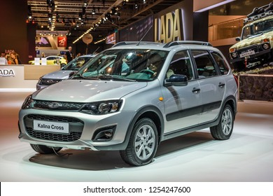 MOSCOW - AUG 2016: VAZ Lada Kalina Cross presented at MIAS Moscow International Automobile Salon on August 20, 2016 in Moscow, Russia.