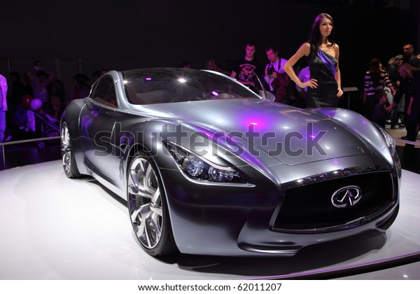 Moscow Aug 29 Infinity Car Model Transportation Stock Image 62011207