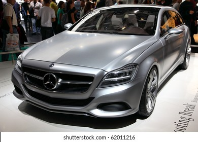 MOSCOW - AUG 29: Mercedes car model at Moscow international motor show 2010 on August 29, 2010 in Moscow, Russia