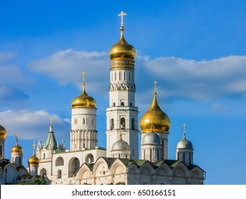 Moscow, Bell tower of Ivan the Great in sunny spring day