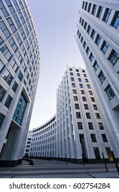 Moscow city modern office architecture