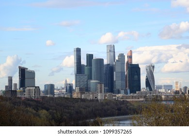 Moscow city, Russia, business center skyline view
