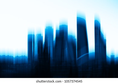 Moscow city skyscrapers abstract background