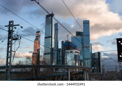 Moscow city, view from trainstation  03.03.2019