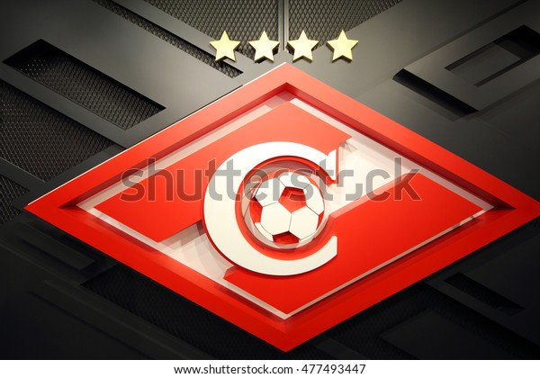 MOSCOW - DEC 25, 2014: Logo of football club Spartak. Spartak Moscow - Soviet and Russian football club from Moscow, one of most popular football clubs in country