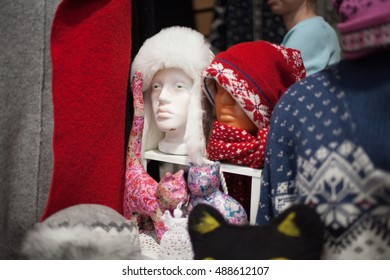 MOSCOW - DECEMBER 09, 2012: Christmas fair of handmade products on December 09, 2012, Moscow, Russia