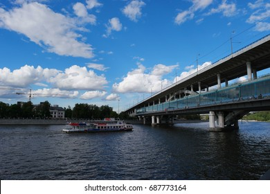 Moscow, the embankment of Moscow, July 25, 2017, Ship - moscow 90