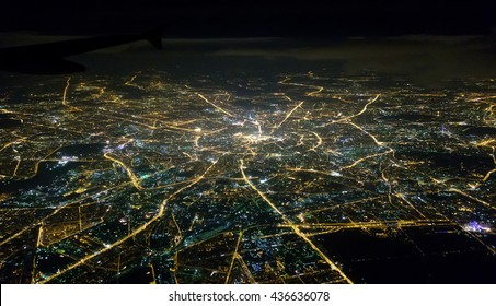 Moscow from a height of ten thousand meters