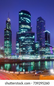 Moscow International Business Center (Moscow city). Moscow, Russia.. 25 July 2011